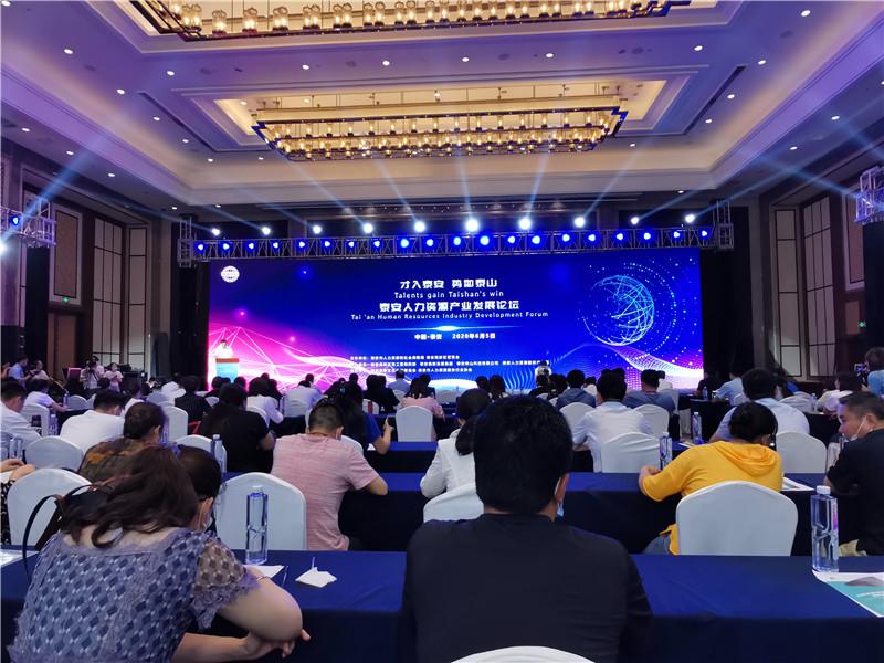 齐鲁人才:齐鲁人才网应邀参加泰安人力资源产业发展论坛