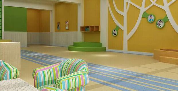 潍坊高新区开心苗苗幼儿园工作环境前台大厅