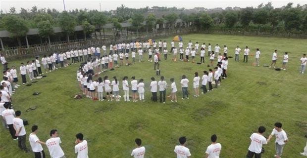 上海万旗房地产营销策划有限公司工作环境公司拓展训练