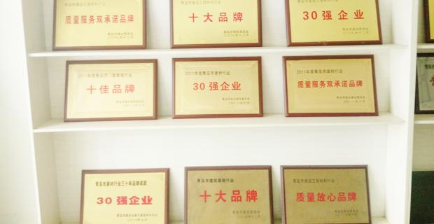 青岛振华幕墙有限公司工作环境企业荣誉证书展示架