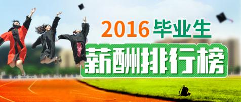 2016年山东省大学毕业生薪酬排行榜火热出炉